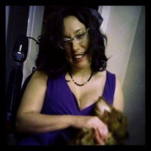 Photo by Heather K. Holding my friend's assistance dog.